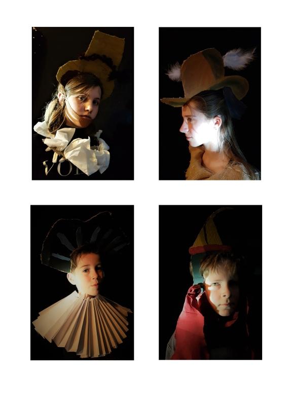 4 hoofddeksels nachtwacht
